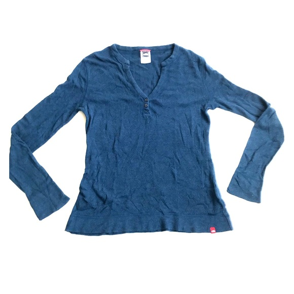 ccb9340cf06cb The North Face Tops - North Face pointelle tee teal blue size M